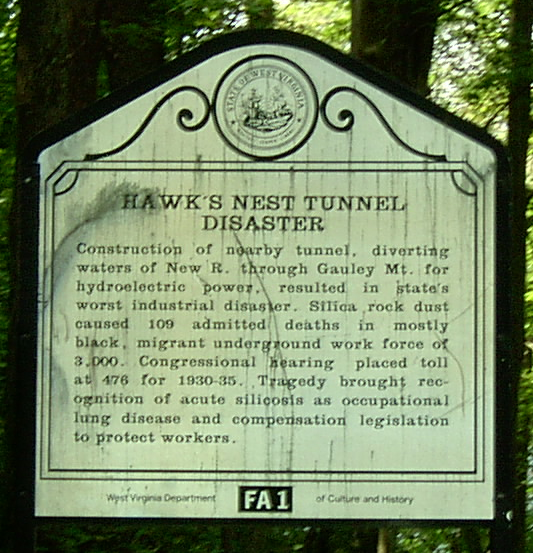 Hawk's Nest Historical Marker