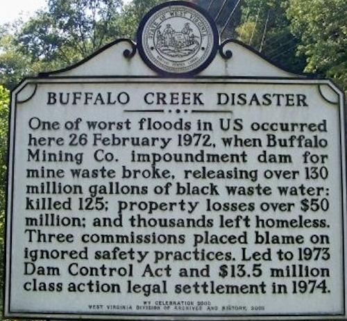 Buffalo Mining Company Retaining Dam Collapse